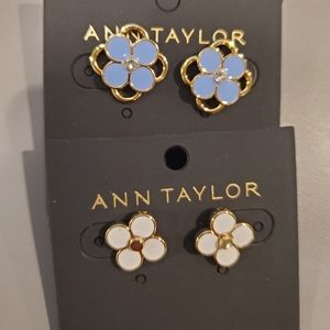 2 clover stud earrings by Ann Taylor